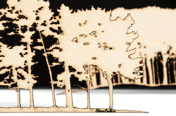 Woodcutts original laser cut wall art.