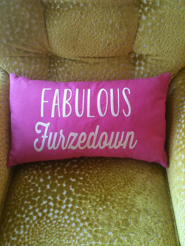 Fabulous Furzedown cushion
