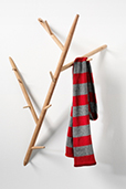 Branch coat and hat hanger