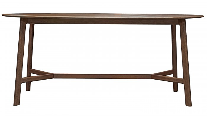 Walnut oval dining table from E & A Wates