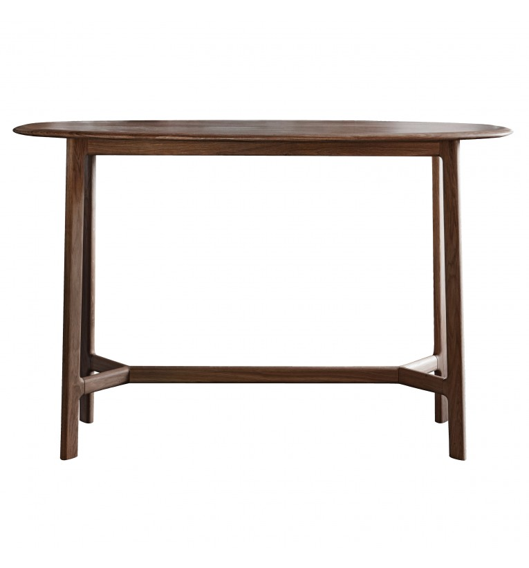 Walnut console table from E & A Wates