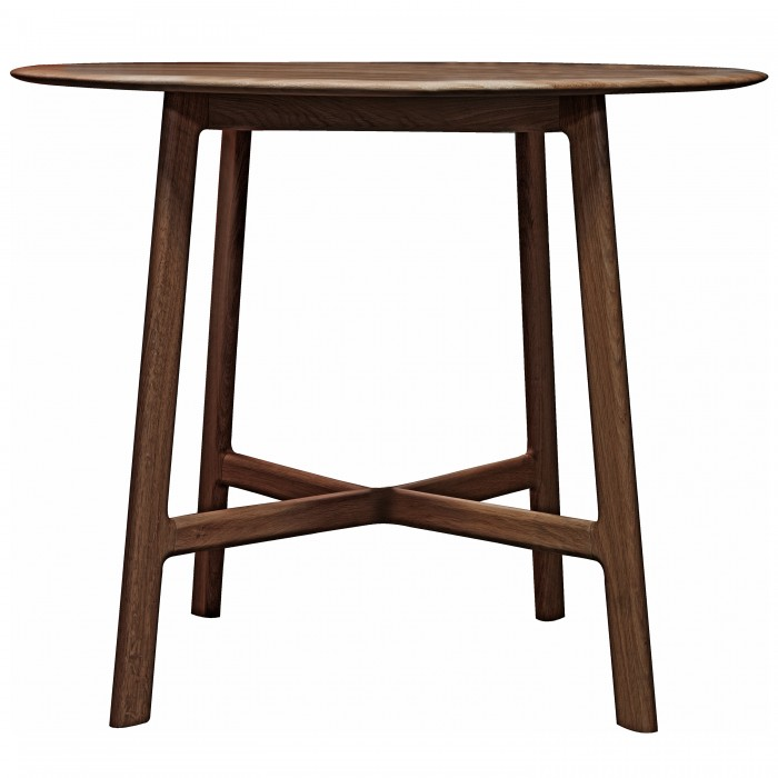 Walnut round dining table from E & A Wates